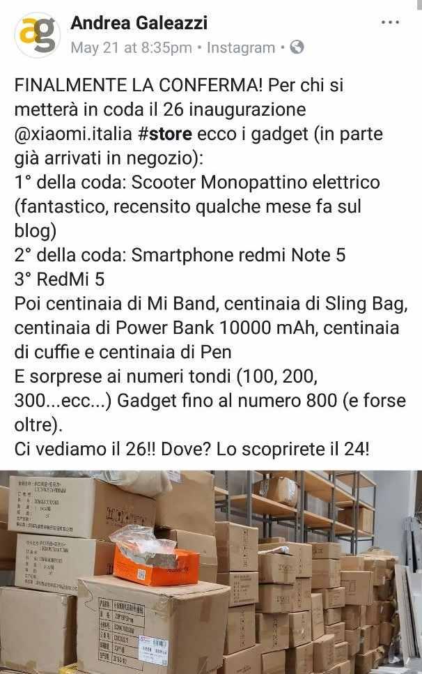 Xiaomi galeazzi Gadget
