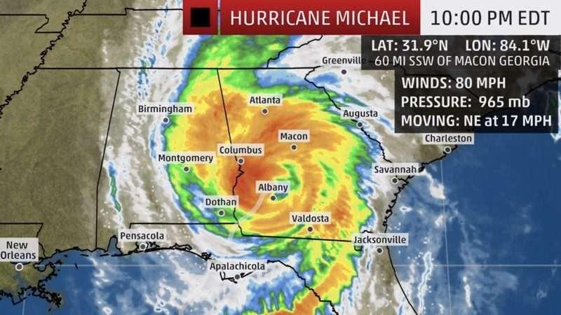 Mappa uragano