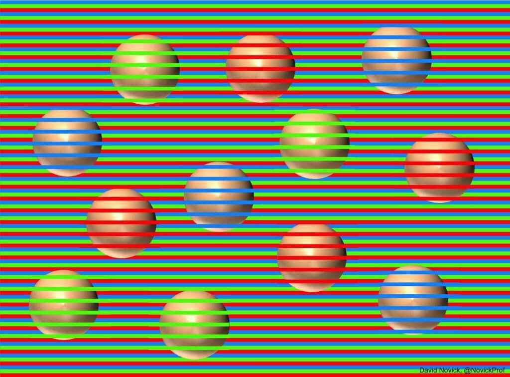 sfere sembrano di diversi colori