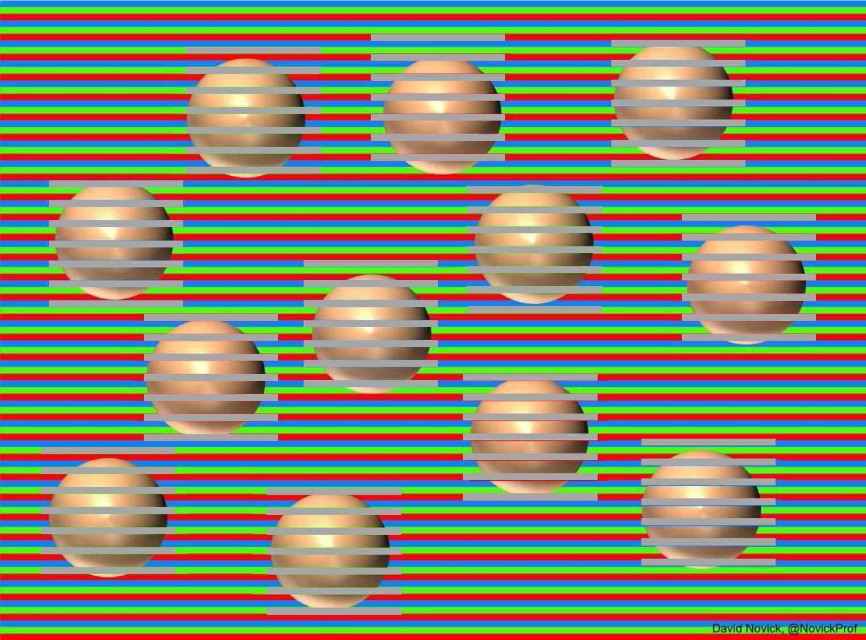 Sfere di colore marrone con strisce neutre