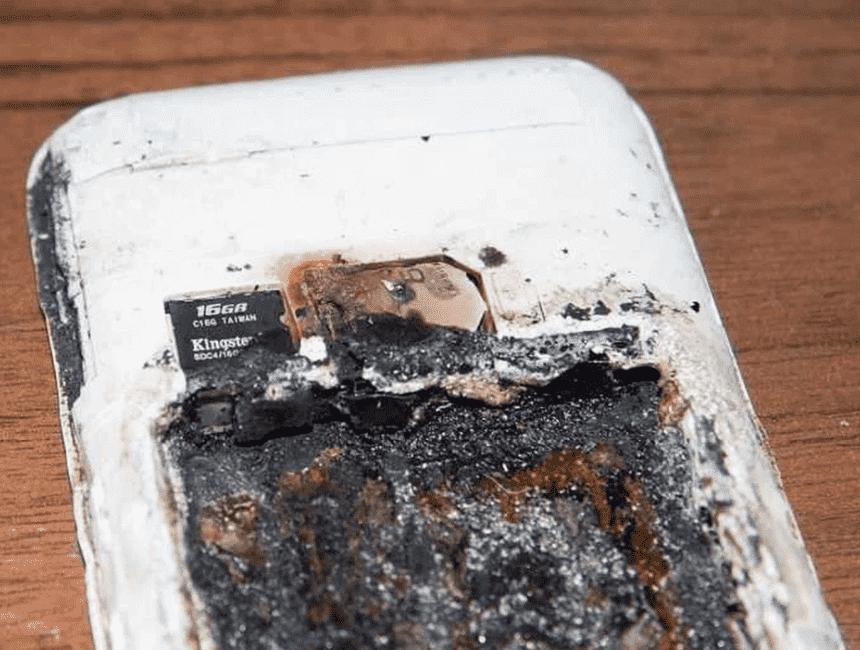Batteria esplosa
