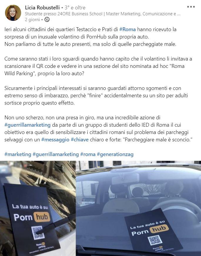 Auto Pornhub Linkedin Roma