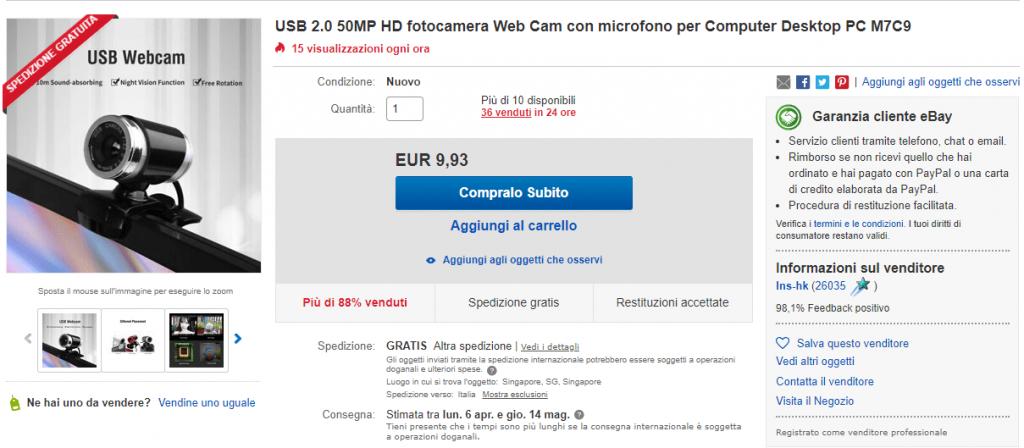 Webcam Ebay Coronavirus