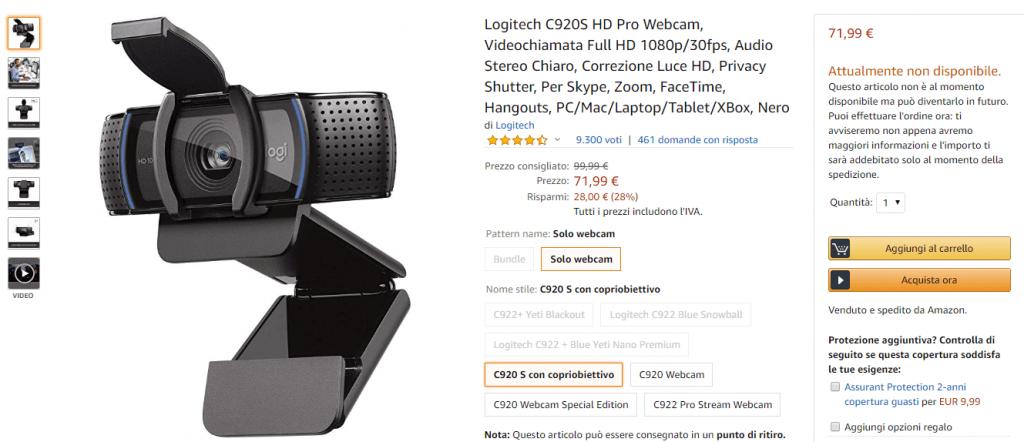 Webcam Coronavirus Logitech Amazon