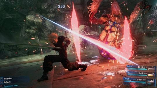 Final fantasy 7 Remake, screenshot di gioco