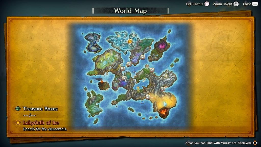 Trials of Mana World Map