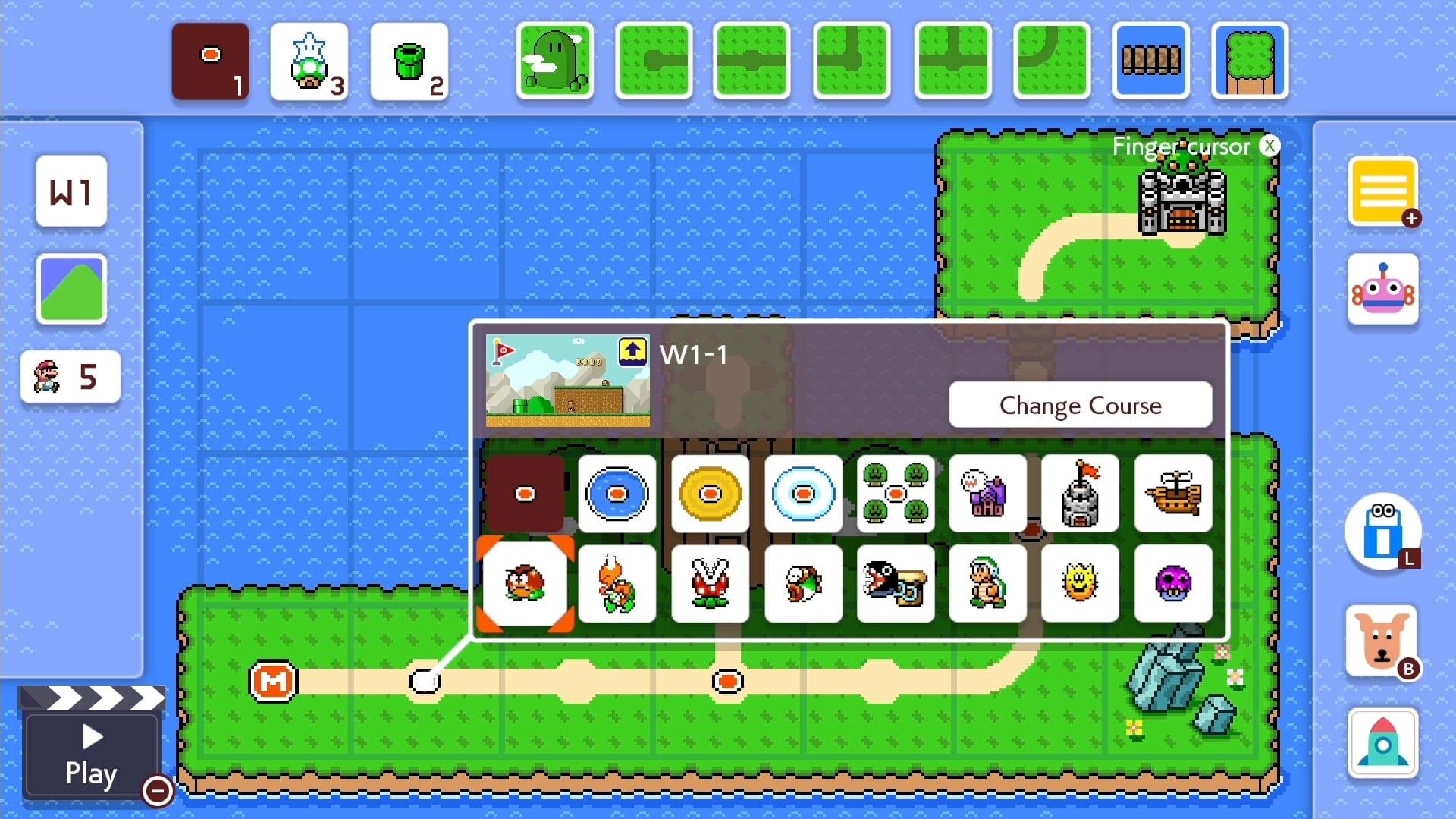 Super Mario Maker 2 creazione mondo