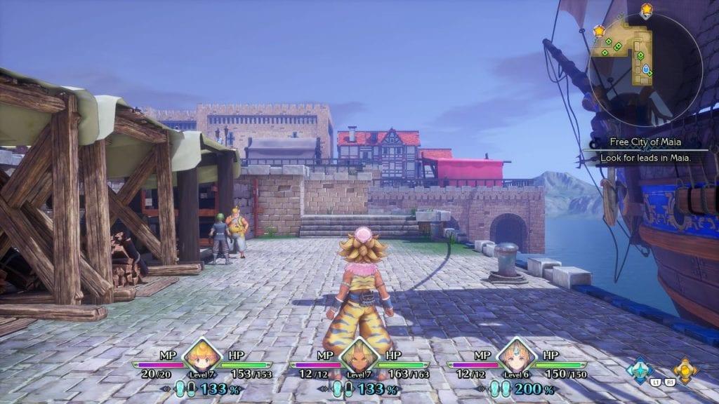 Trials of Mana, screenshot in game