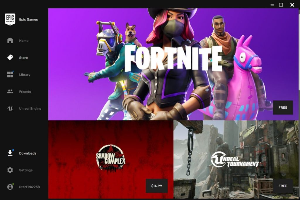 epic games store pagina