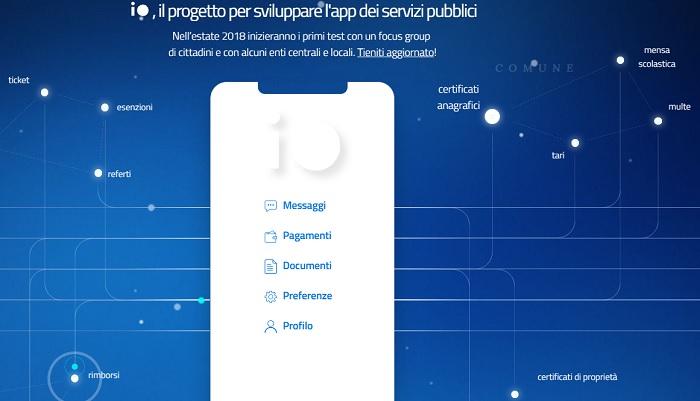 Io Italia App per pagare tasse e ricevere reddito di cittadinanza