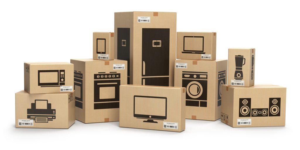 scatole di dispositivi elettronici