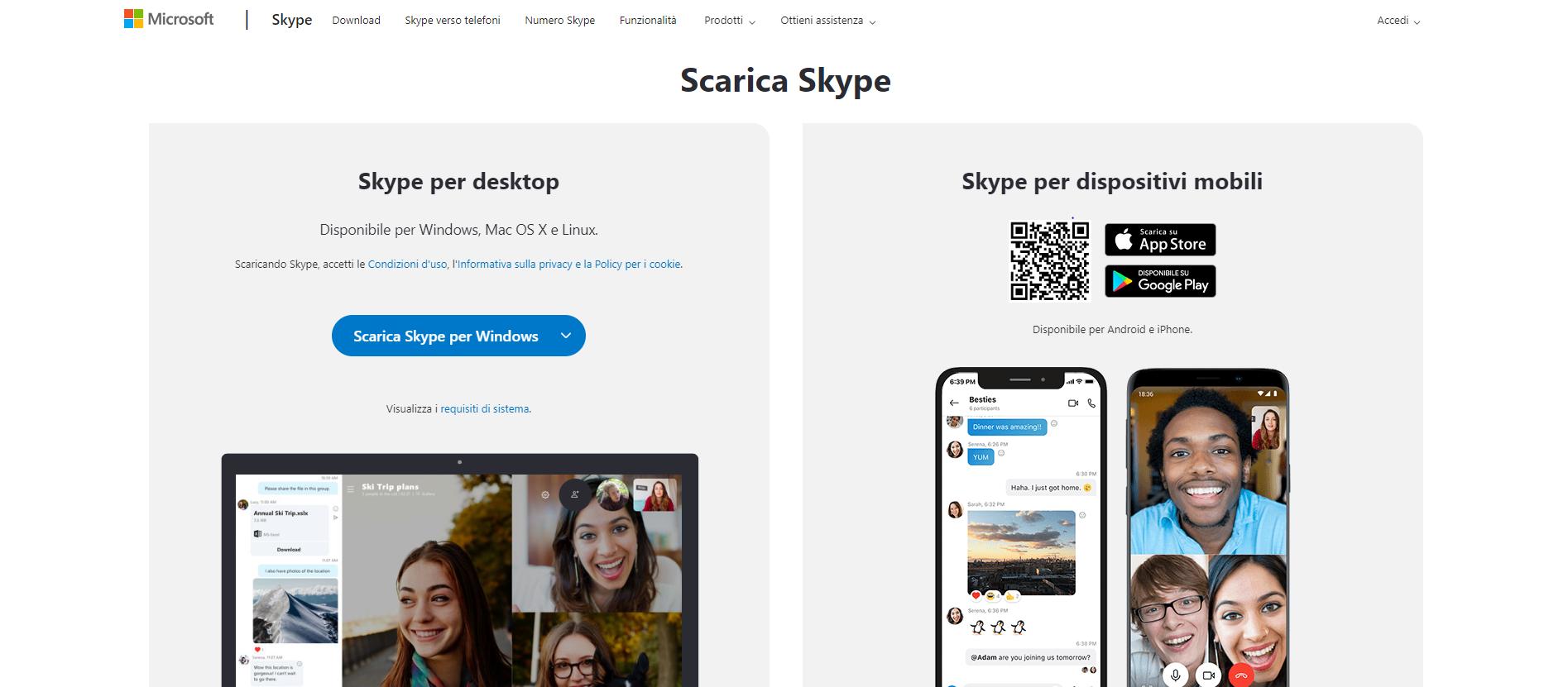 come installare skype windows