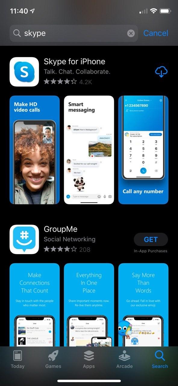 download skype ios