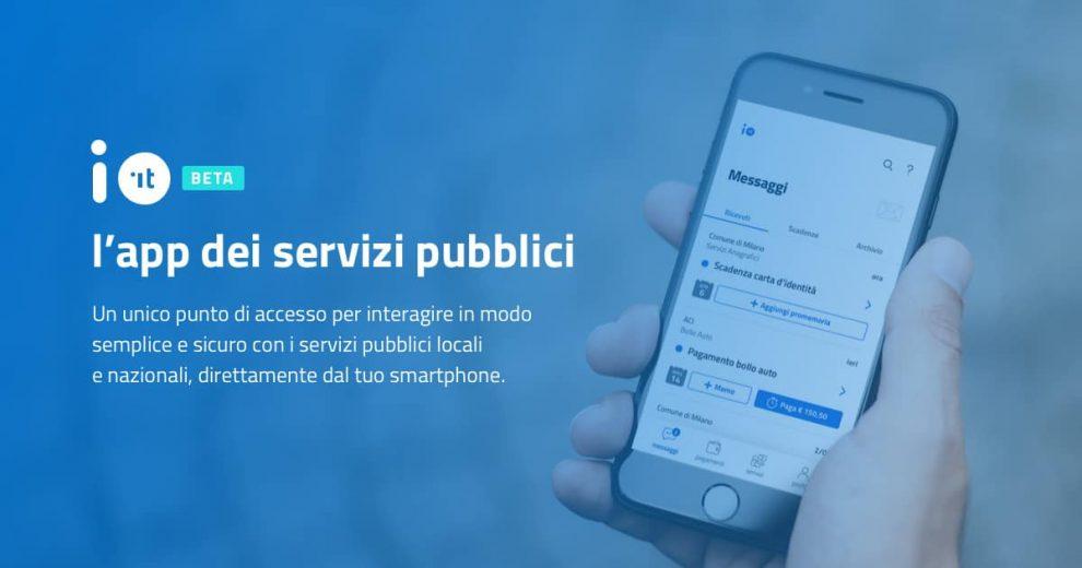 IO, l'app dei servizi pubblici