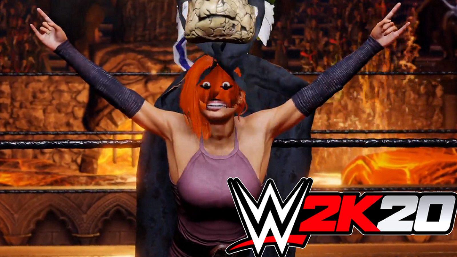 WWE 2k20 bug