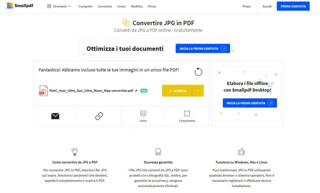 smallpdf.con JPG in PDF