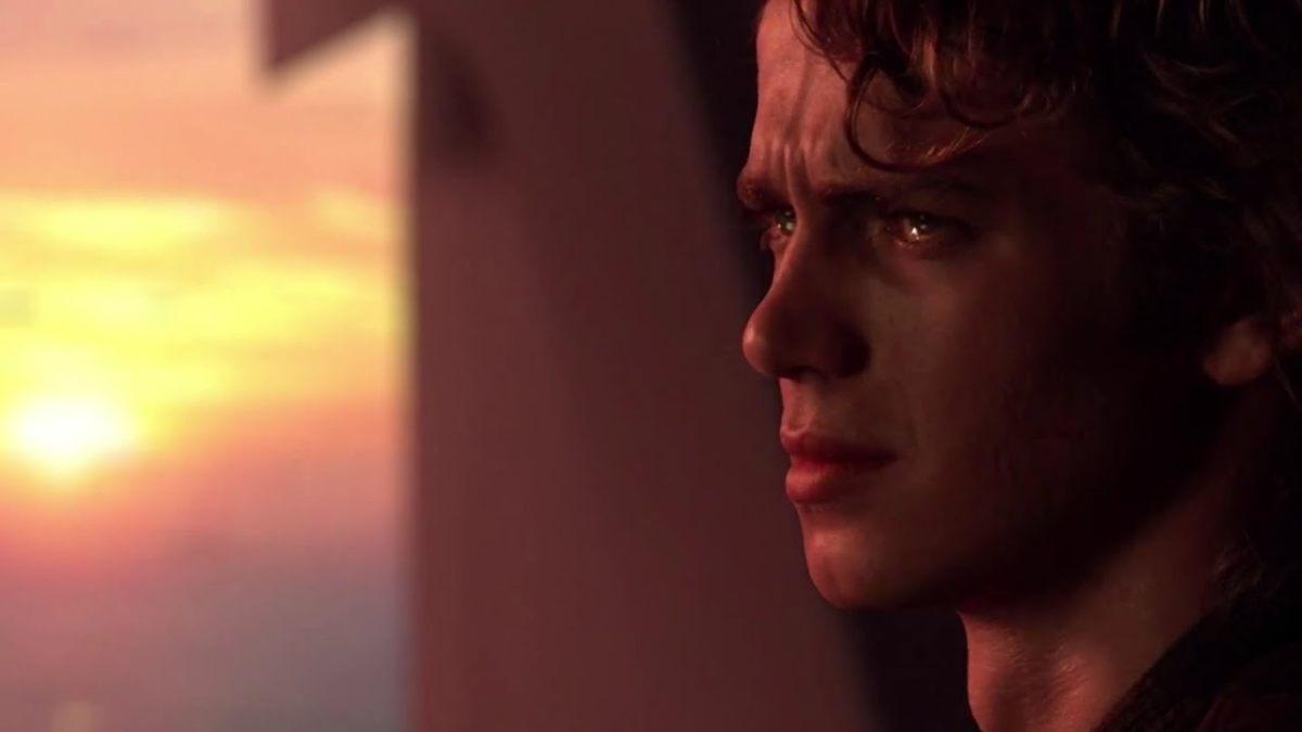 Anakin Skywalker in un momento di sofferenza che lo avvicina al lato oscuro, durante le fasi finali della trilogia prequel