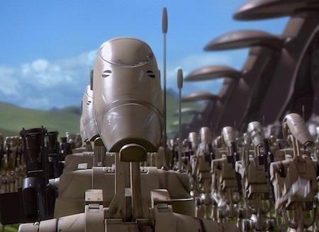 Esercito droide ne La minaccia fantasma, primo capitolo della trilogia prequel