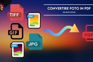 convertire foto pdf