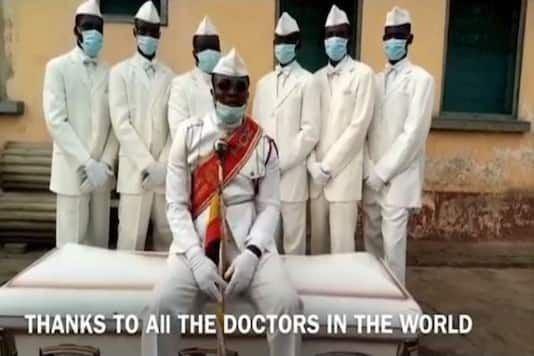 Ghanaian dancing pallbearers