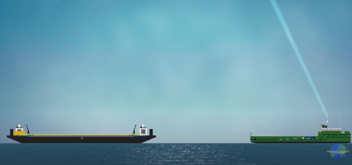 antenna e altra nave