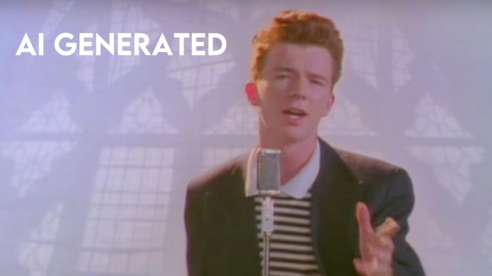 "Rick Astley nel video ""Never Gonna Give You Up"""