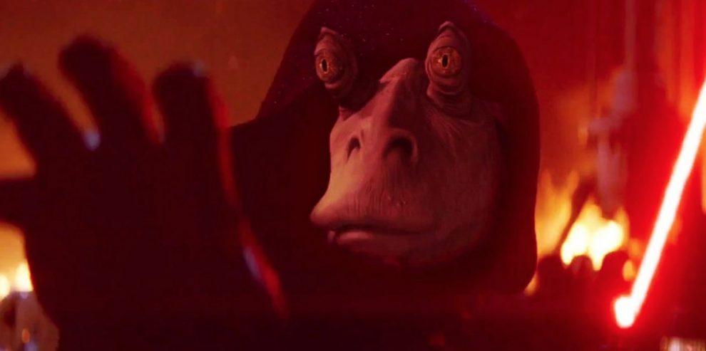 Spaventoso Jar Jar Binks, personaggio più odiato della trilogia prequel e non solo, in versione Signore dei Sith