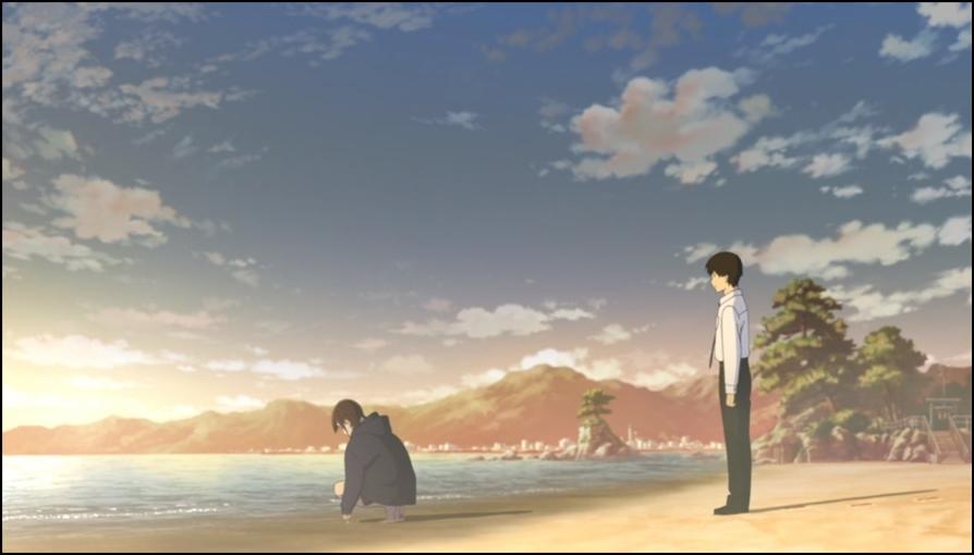 Sakura e Haruki sulla spiaggia