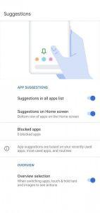 Android 11 Beta 1 App Suggerite impostazioni