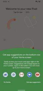Android 11 Beta 1 App Suggerite