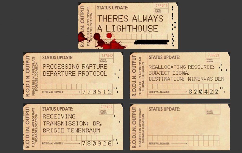bioshock punchcard