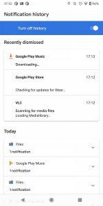 cronologia notifiche android 11