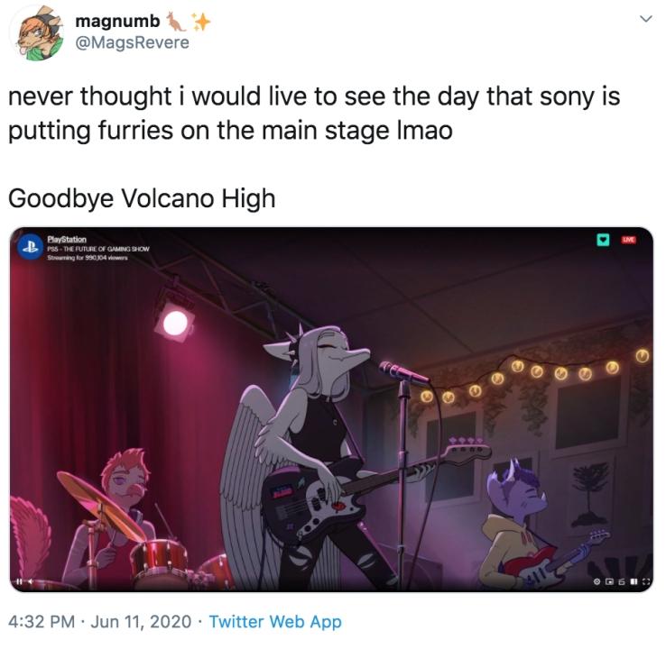 Goodbye Volcano High Twitter