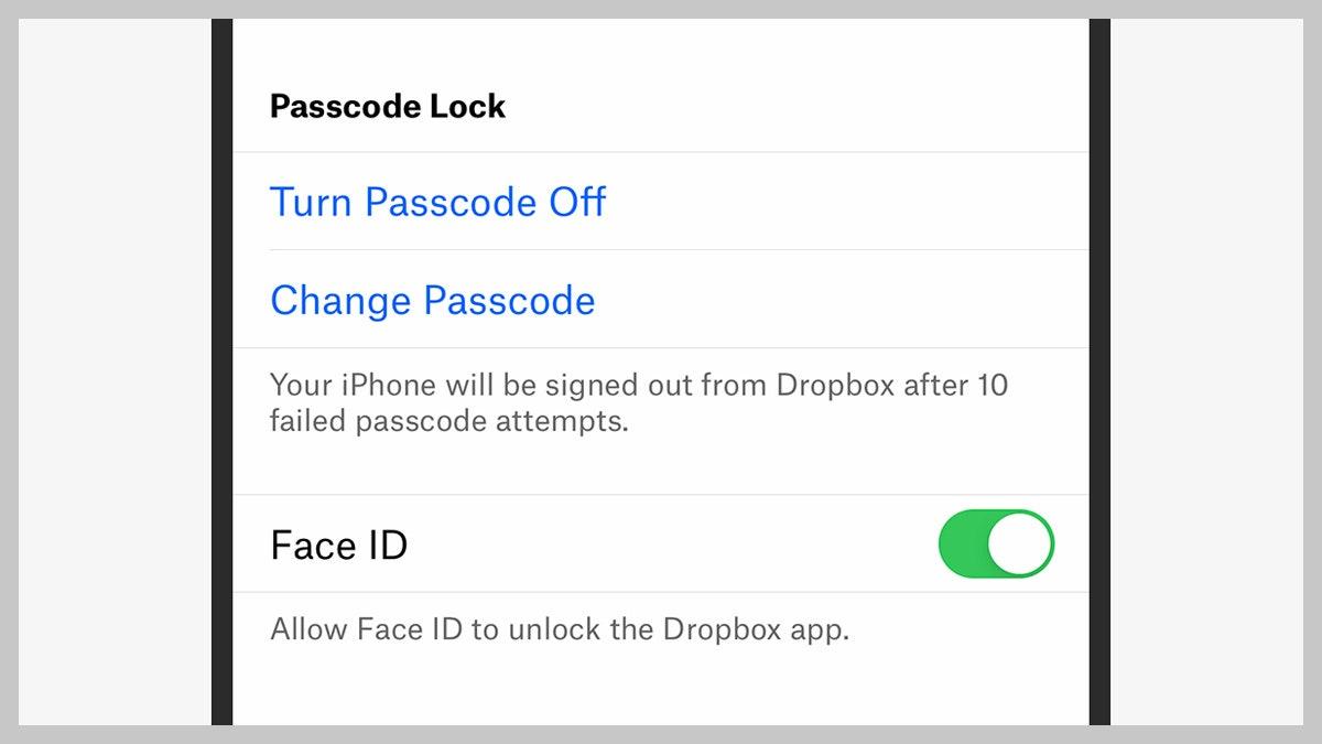 password dropbox