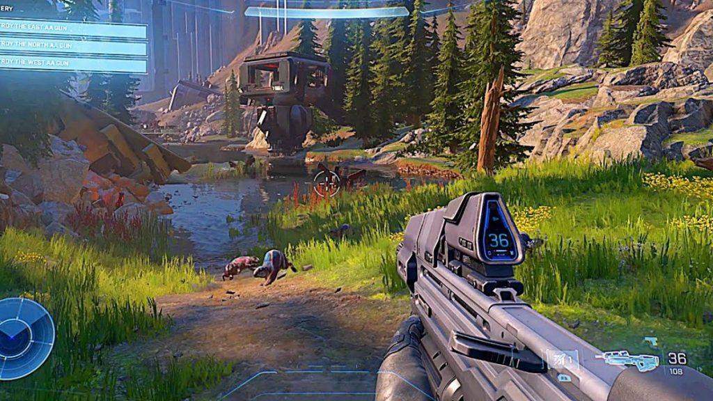 Scorcio di gameplay di Halo Infinite