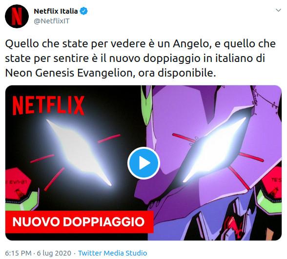 Il 6 luglio 2020 è uscito il nuovo adattamento italiano di Evangelion per Netflix
