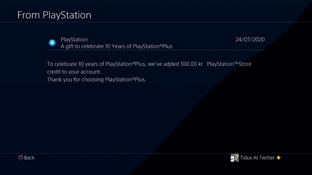 PlayStation Plus, 10 euro in regalo per il decennale del servizio