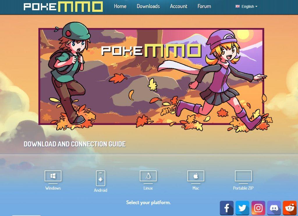 PokeMMO homepage