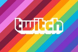 Logo di twitch per il pride month