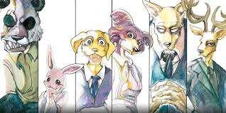 da sinistra a destra, vi sono alcuni personaggi di Beastars