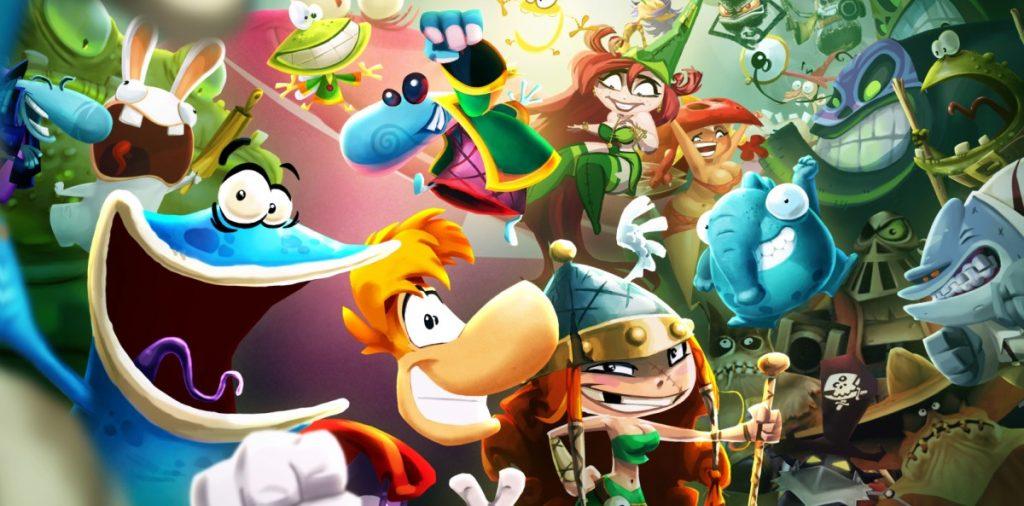 Selfie di tutti i personaggi della saga Rayman