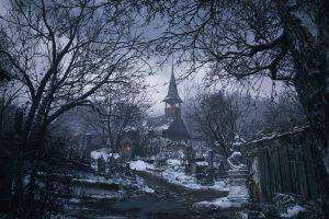 Castello di Resident Evil Village visto dall'esterno