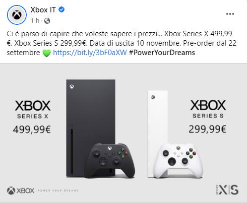 prezzi xbox series
