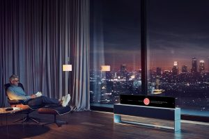 LG TV Signature arrotolabile
