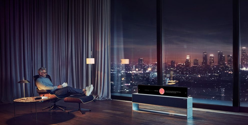 LG TV Signature arrotolabile