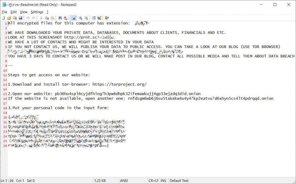 Enel attacco ransomware Netwalker nota di riscatto