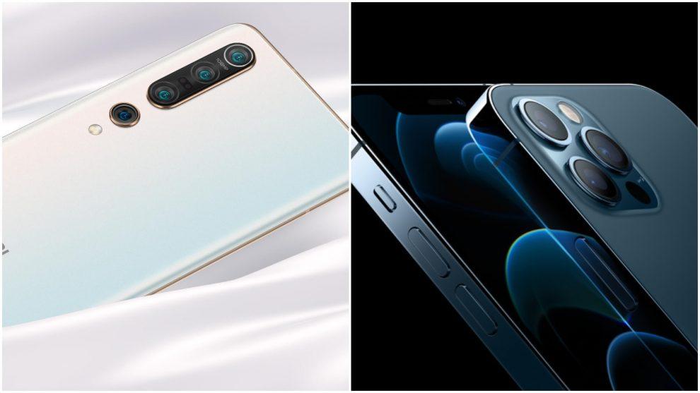 Xiaomi Mi 10T Pro iPhone 12 Apple