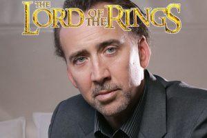 nicolas cage il signore degli anelli