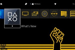 Tema black lives matter per ps4 e ps5
