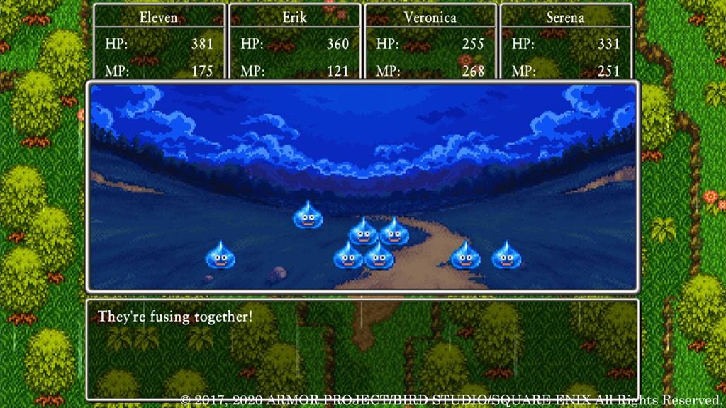 Dragon Quest XI S: Edizione Definitiva battaglia 2D